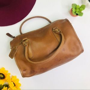 [Coach] RARE Vintage Cognac Leather Handbag